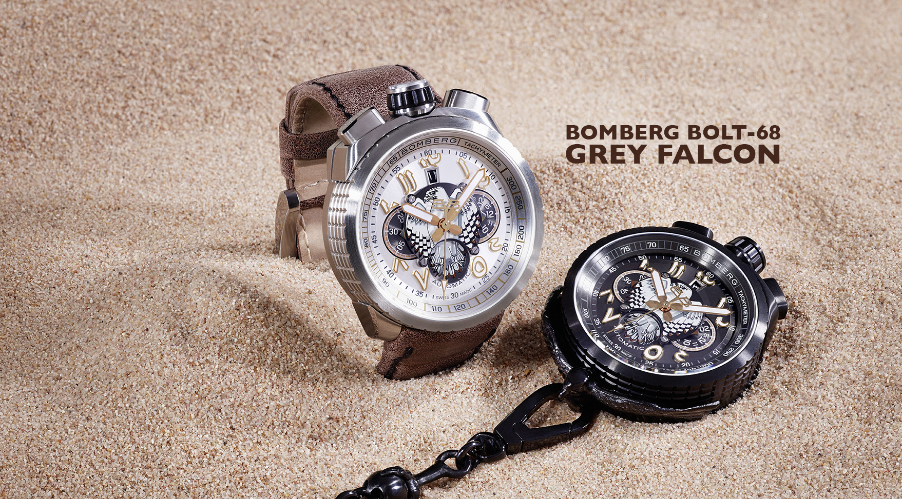 BOMBERG - DUO FALCON Indian numbers in white sand
