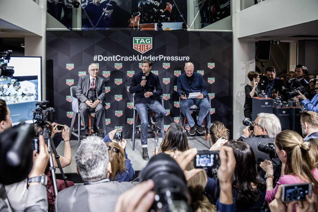 TAG HEUER, Press Conference with Patrick Dempsey
